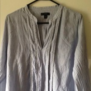 J. Crew V Neck blouse shirt