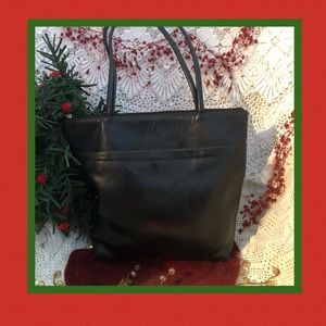 Hobo Black Leather Tote Red Interior
