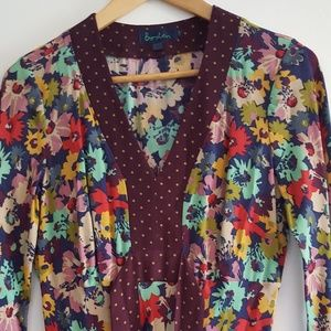 Boden 100% rayon floral dress