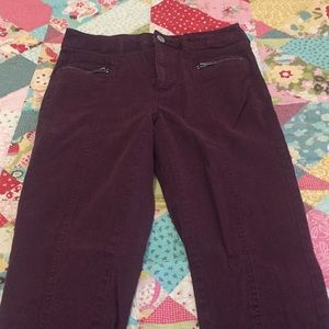 Maroon High Rise Jeggings