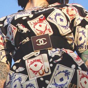Chanel Big Buckle Double C's Belt