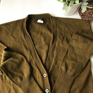 JCREW Olive Green Button Front Merino Wool Cardi