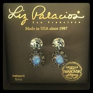 Striking Liz Palacios Swarovski Stud Earrings Set