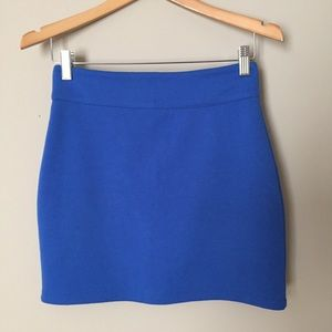 Urban Outfitters Silence + Noice Blue Ponte Skirt