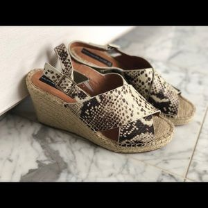Steve Madden Snakeprint Wedge Slides