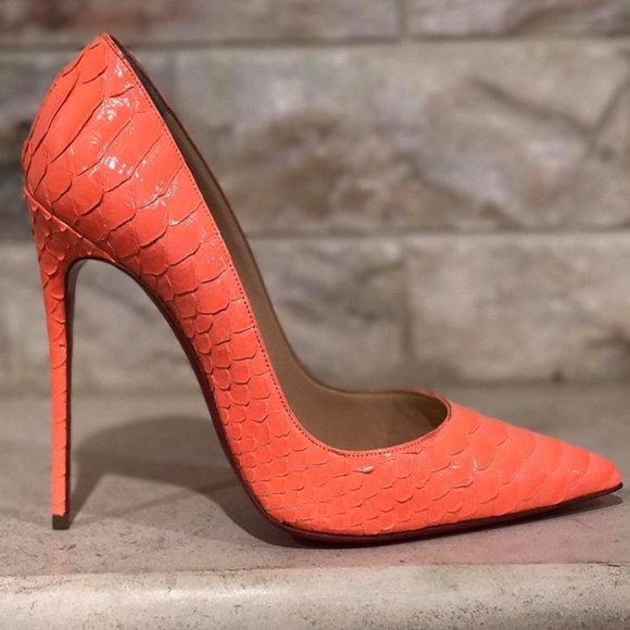 4547a7891b2a Christian Louboutin So Kate 120 Orange Flamingo