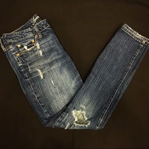 American Eagle Skinny 77 Ripped Jeans