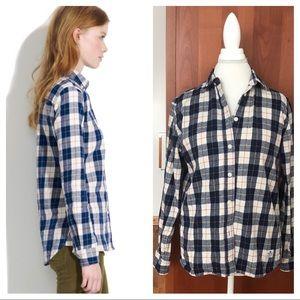 Madewell X Penfield boyfriend flannel shirt L