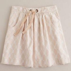 J.CREW Ikat Monterey Mini Skirt Peach Pink White