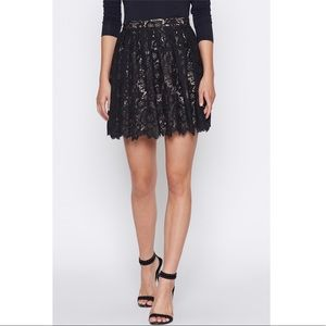 Joie Black Meray Lace Skirt