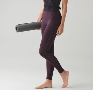 Lululemon Deep Breath Tight Black Cherry Size 6