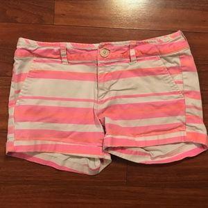 American Eagle midi length tri-colored shorts