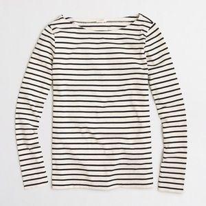 J. Crew | NWOT Long Sleeve Striped Boatneck Tee