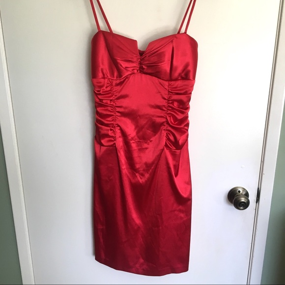 Dresses & Skirts - Red satin holiday dress tag says 9/10 fits small