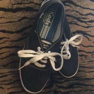 Black Ladies Keds Tennis Shoes Size 7