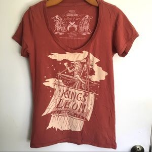 Kings of Leon orange concert tee medium