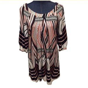 ABS Allen Schwartz mod Art Deco design dress