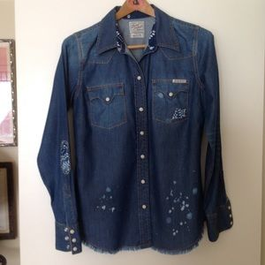 LUCKY Brand Chambray Shirt M