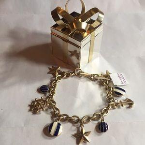 NWT Lia Sophia Nautical charm bracelet