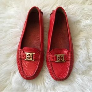 Tory Burch Red Loafers