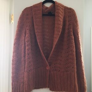 H&M Sweaters - H&M Large Burnt Orange knitted cardigan.