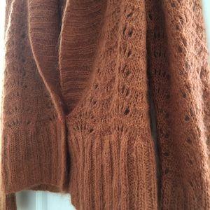 H&M Large Burnt Orange knitted cardigan.