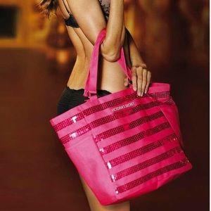 // Victoria's Secret Hot Pink Sequin Tote