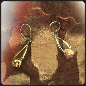 NIB Harper Rae Sterling Swarovski Dangle Earrings