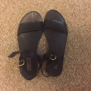 Black Steve Madden sandals
