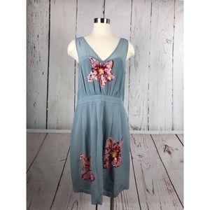 Anthropologie Lil Glimmering Magnolia Dress Sz 14
