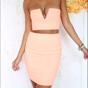 Sabo Skirt Peach Set