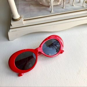 Accessories - Red Kurt Cobain Sunglasses or Clout Goggles