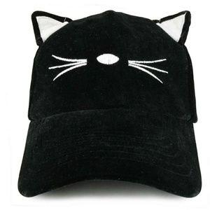 🆕 Black Velvet Vat Ear Baseball Cap