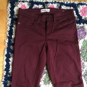 Madewell Burgundy Skinny Skinny Jeans