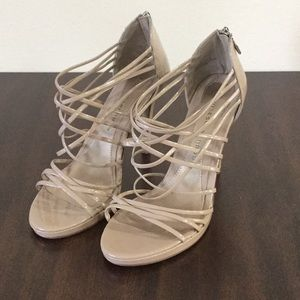 Patent Tan Strappy Heels from Chinese Laundry sz11