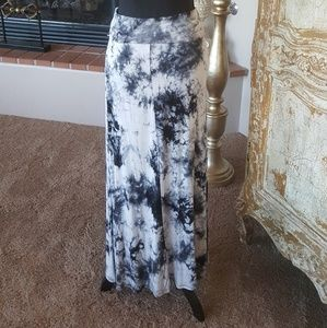 Black and Gray tie dye Maxi Skirt New without tags
