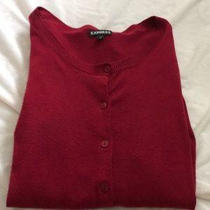 Burgundy bottom down sweater