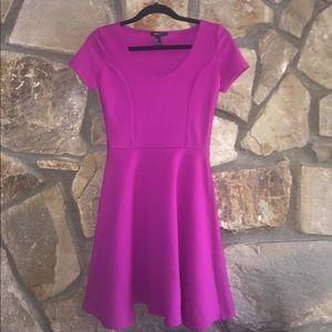 Magenta Fit & Flare Dress