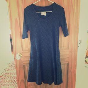 Anthropolgie Saturday/Sunday 3/4 sleeve blue dress