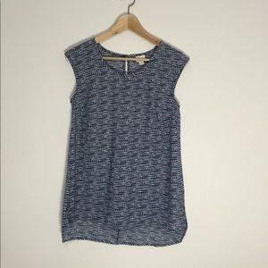 Merona Blue and white work blouse
