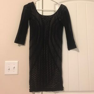 Black Mesh with Nude Lining Bebe dress! 👗