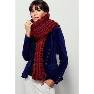Free People Maggie Maye chunky knit scarf
