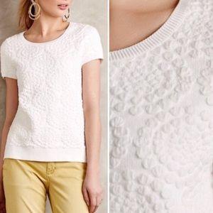 Anthropologie Etage Jacquard pullover