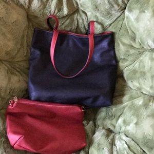 Vegan tote bag and matching crossbody bag