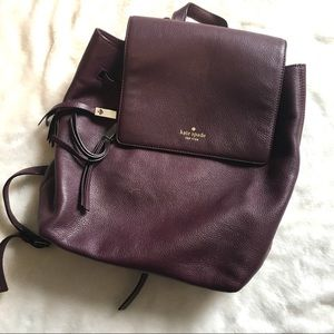 Kate Spade Plum Backpack
