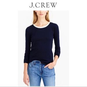 New Listing* JCrew Painter Tee with Leather Trim