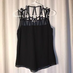 Necessary Clothing Lattice Detail Blouse