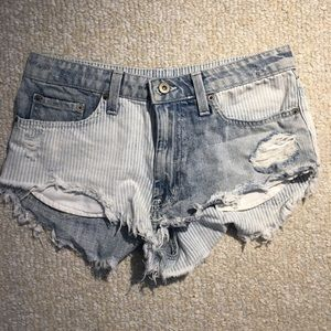 Trendy distressed Carmar jean shorts from LF