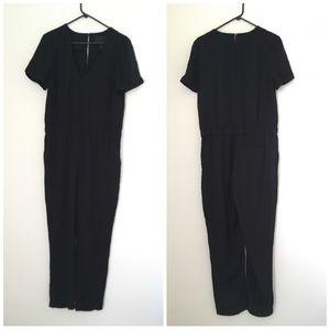 J. Crew Collection black short sleeve Jumpsuit, 8