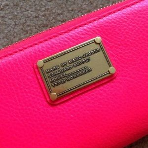 Used Marc by Marc Jacobs hot pink wallet